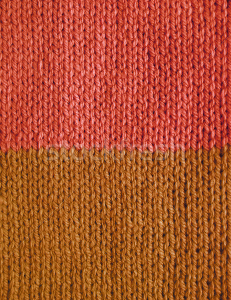 Length of stockinette stitch knitting in pink and brown yarn Stock photo © sarahdoow