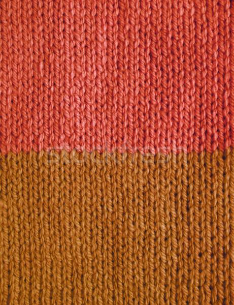 длина стежка розовый коричневый пряжи Сток-фото © sarahdoow