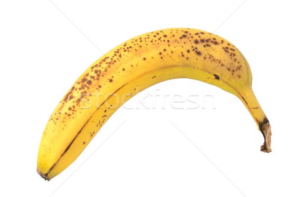 Overripe banana with spotty skin Stock photo © sarahdoow