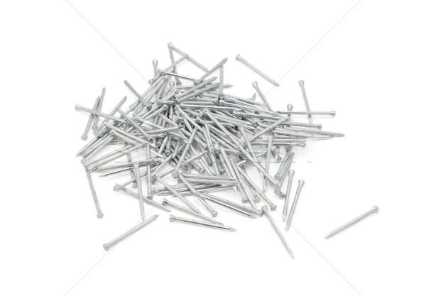 ストックフォト: パネル · ステンレス鋼 · 孤立した · 白 · 産業