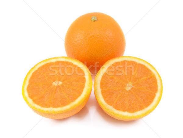 Zdjęcia stock: Całość · pomarańczowy · dwa · soczysty · cięcia · odizolowany