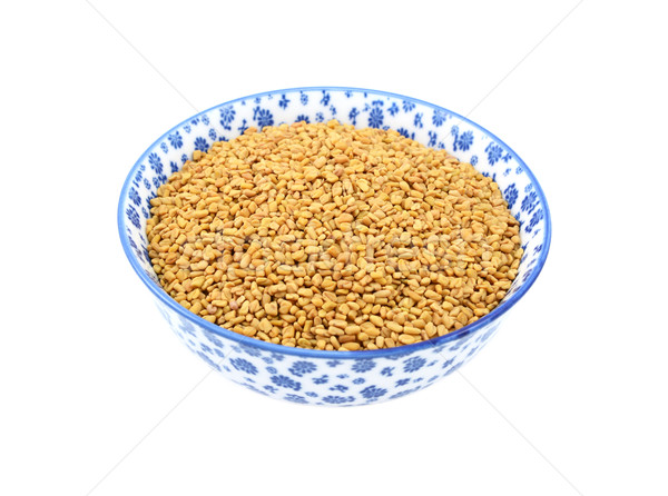 Fenugreek seeds in a china bowl Stock photo © sarahdoow