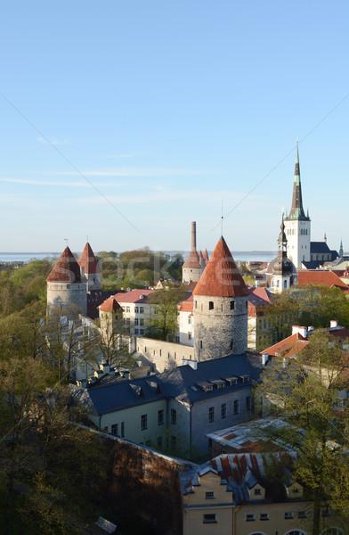 Medievale torri città muro in giro Tallinn Foto d'archivio © sarahdoow