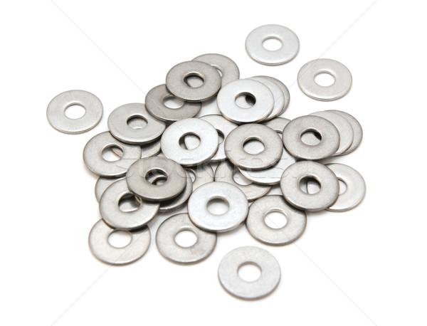 Roestvrij staal geïsoleerd witte metaal industrie Stockfoto © sarahdoow