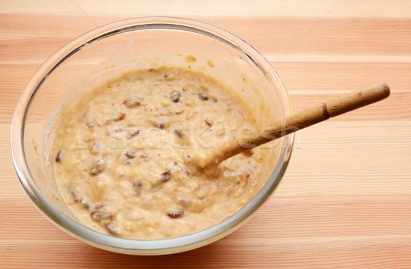 подготовленный банан хлеб буханка стекла чаши Сток-фото © sarahdoow