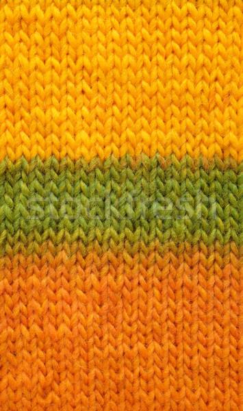 Kous steek Geel groene oranje Stockfoto © sarahdoow