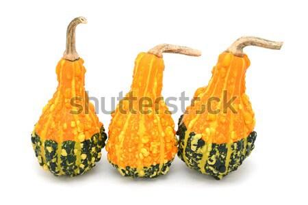 Yellow and green ornamental gourd Stock photo © sarahdoow
