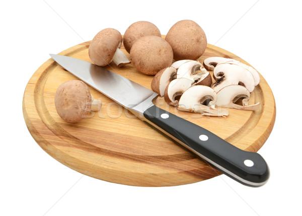 Faca inteiro castanha cogumelos Foto stock © sarahdoow