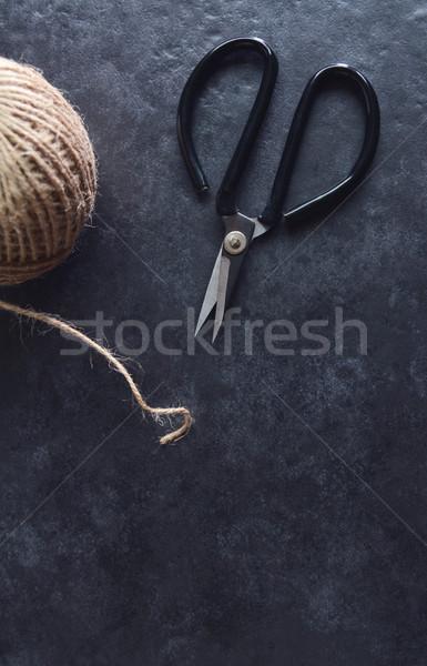 Florist scissors with hessian twine Stock photo © sarahdoow