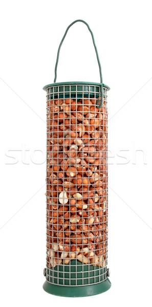 Bird feeder full of peanuts Stock photo © sarahdoow