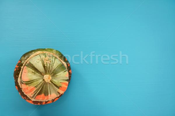 Zielone pomarańczowy turban miąższ kopia przestrzeń malowany Zdjęcia stock © sarahdoow