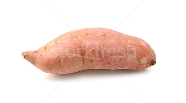 Greggio patata dolce isolato bianco alimentare rosa Foto d'archivio © sarahdoow