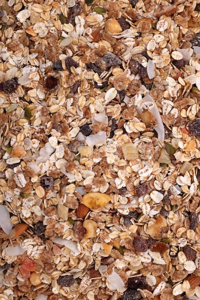 Müsli granen zaden gemengd vruchten noten Stockfoto © sarahdoow