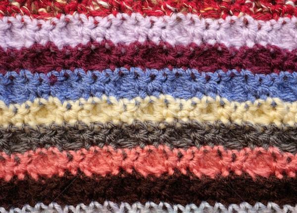 水平な かぎ針編み ステッチ 抽象的な テクスチャ ストックフォト © sarahdoow