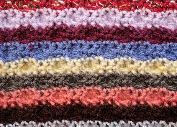 Horizontal croché resumen textura Foto stock © sarahdoow