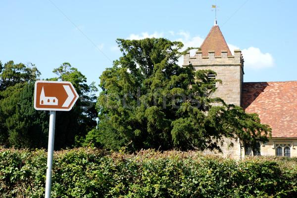 Foto d'archivio: Turistica · segno · punti · storico · chiesa · rosolare