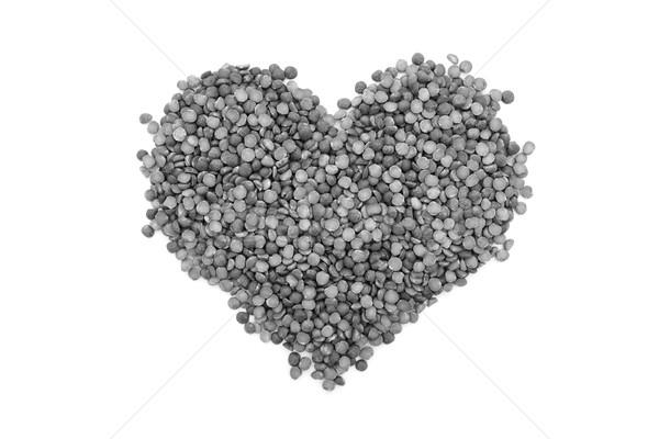 Erwten hartvorm geïsoleerd witte monochroom voedsel Stockfoto © sarahdoow