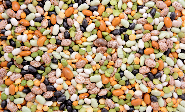 Mixed dried beans abstract background texture Stock photo © sarahdoow