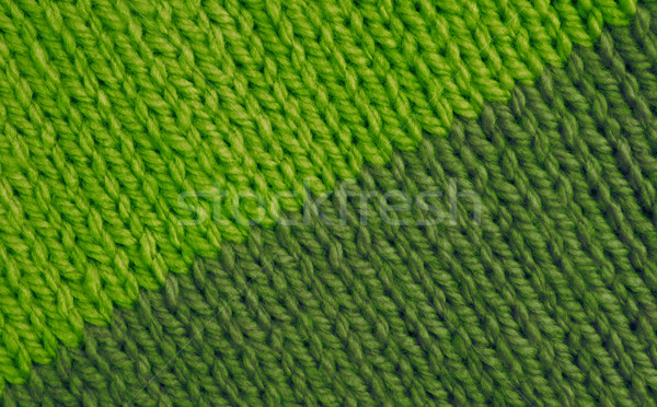 Stockinette stitch in bright and moss green wool background Stock photo © sarahdoow