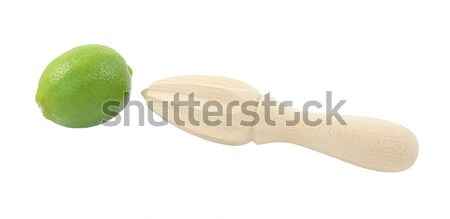 Geheel citroen houten citrus geïsoleerd witte Stockfoto © sarahdoow