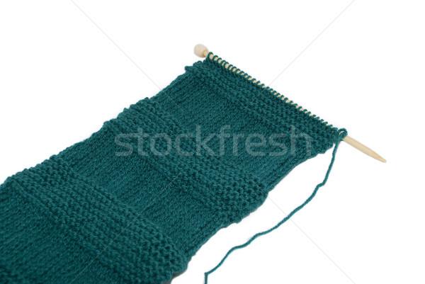 Unfinished scarf on knitting needle Stock photo © sarahdoow