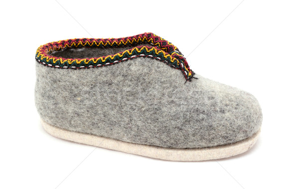 Geleneksel gri terlik yalıtılmış beyaz ayakkabı Stok fotoğraf © sarahdoow