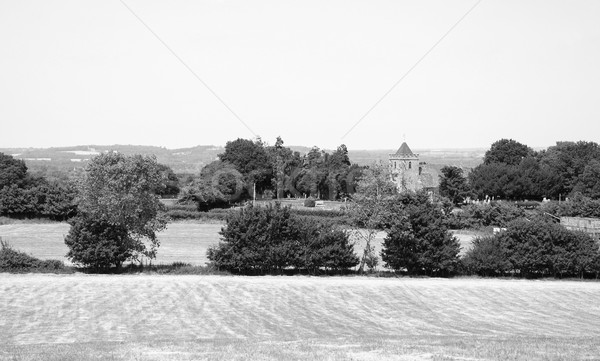 Stock photo: Rural landscape with historic church in Kent, England