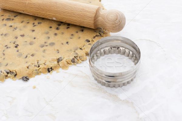 Süti sodrófa körkörös csokoládé chip keksz Stock fotó © sarahdoow
