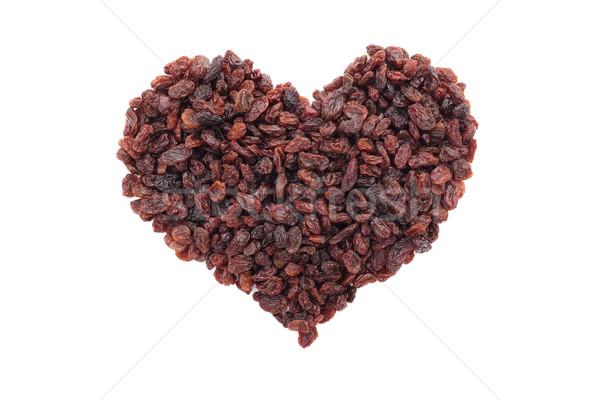 レーズン 心臓の形態 孤立した 白 食品 フルーツ ストックフォト © sarahdoow