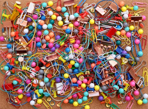 Materiały biurowe korka kolorowy papieru gumy Zdjęcia stock © sarahdoow