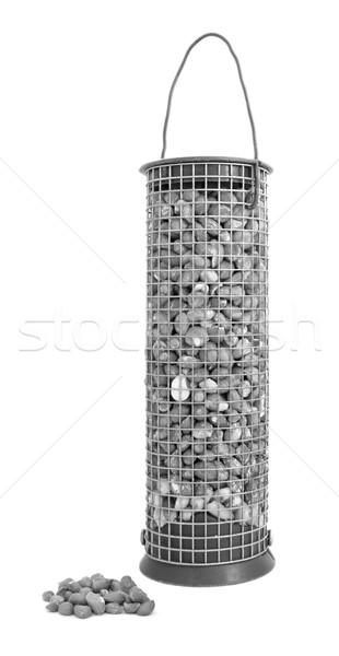 Pássaro amendoins nozes solto isolado branco Foto stock © sarahdoow