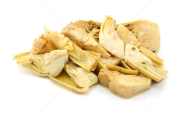 Pile of artichoke heart slices Stock photo © sarahdoow