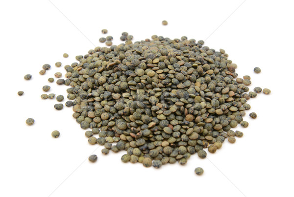 Stock photo: Marbled dark green lentils