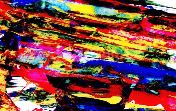 Brillante resumen diagonal pintura líneas acrílico Foto stock © sarahdoow