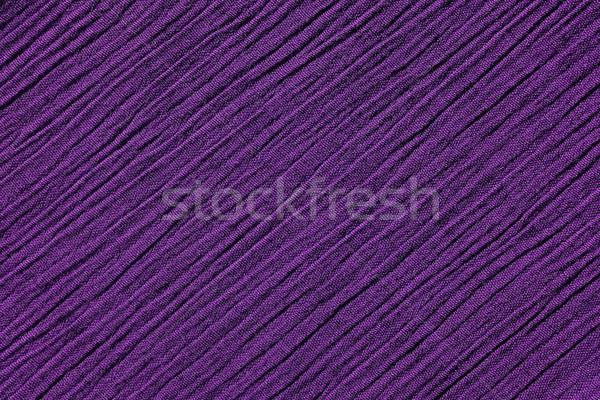 Dark purple crinkled fabric background texture Stock photo © sarahdoow