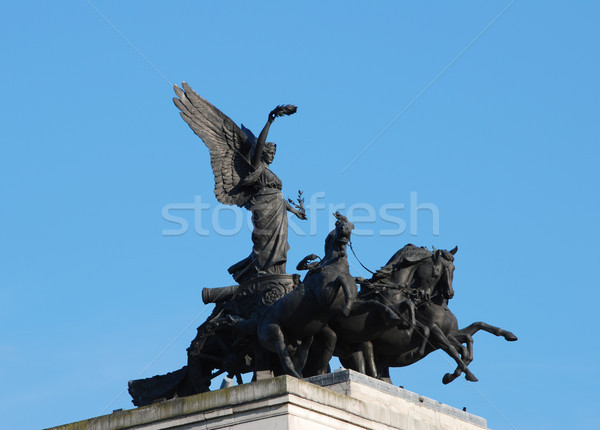 Angel of Peace sculpture on top of Wellington Arch in London Stock photo © sarahdoow