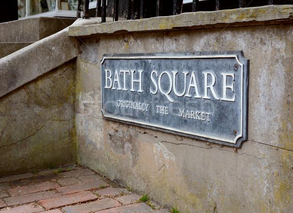 улице подписать ванны квадратный королевский рынке исторический Сток-фото © sarahdoow