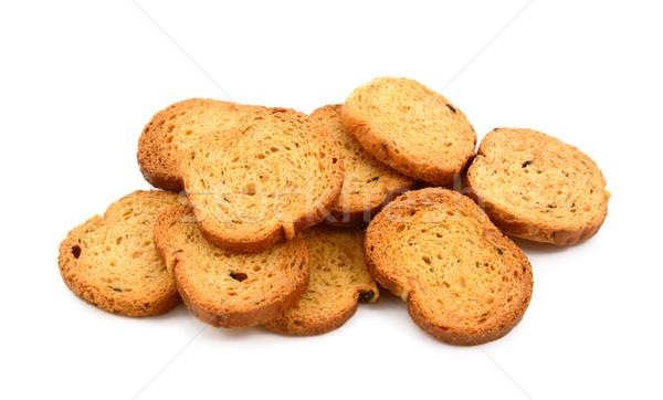 Pile of bite-size Italian crostini Stock photo © sarahdoow