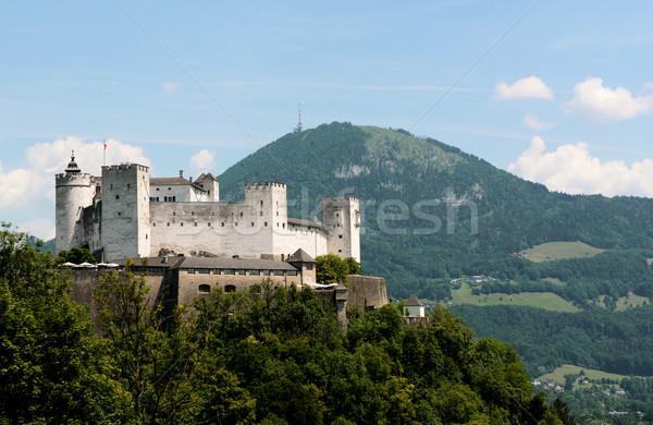 Festung Hohensalzburg and Gaisberg mountain Stock photo © sarahdoow