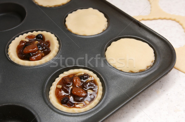 Stock photo: Mince pies being made