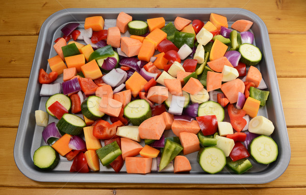 Chopped raw vegetables - suitable for roasting Stock photo © sarahdoow