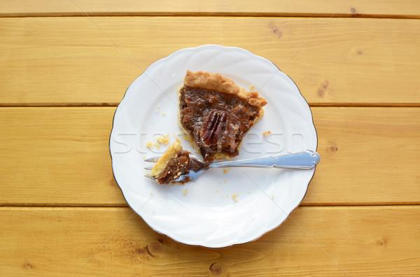 Half-eaten slice of pecan pie Stock photo © sarahdoow