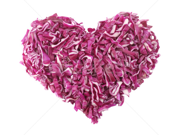 Shredded red cabbage in a heart shape Stock photo © sarahdoow