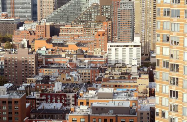 Cityscape кухне Manhattan Нью-Йорк квартиру офисных зданий Сток-фото © sarahdoow