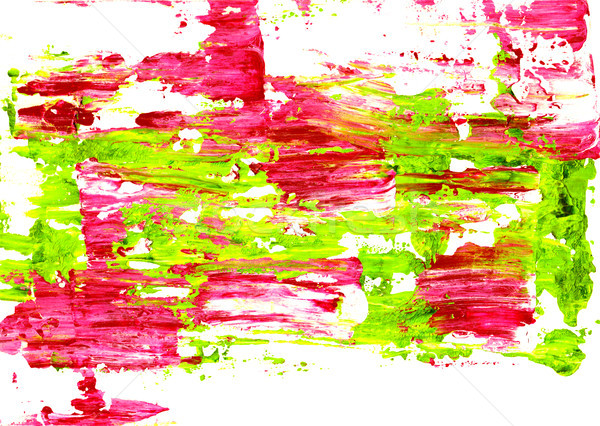 Vivid pink and green paint spread abstractly Stock photo © sarahdoow