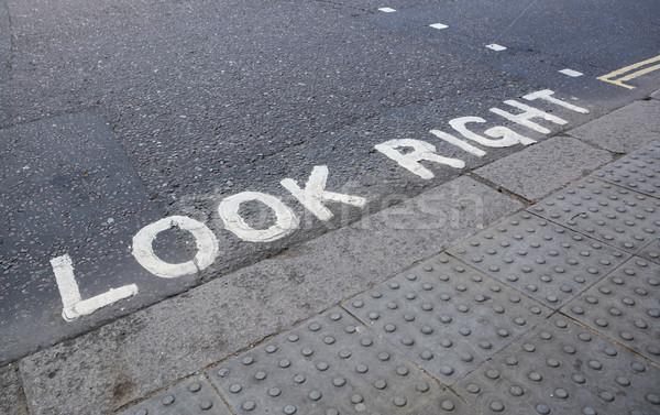 Look Right at a pedestrian crossing Stock photo © sarahdoow