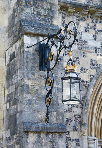 Ornate lantern on a stone wall  Stock photo © sarahdoow