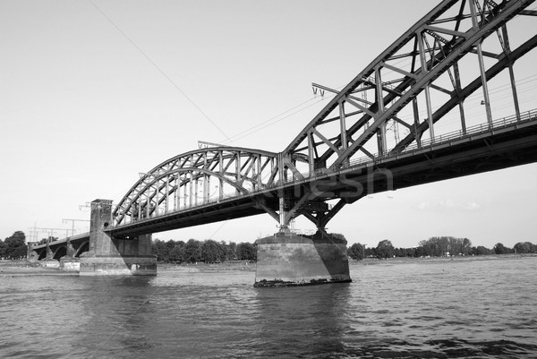 The Suedbruecke over the Rhine in Cologne, Germany Stock photo © sarahdoow