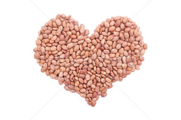 Pinto beans in a heart shape Stock photo © sarahdoow