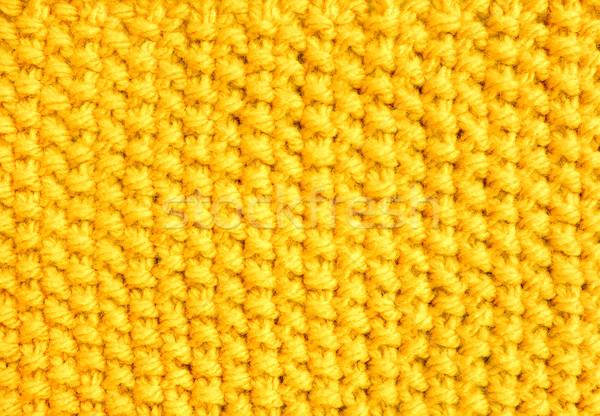 Mos steek Geel garen wol Stockfoto © sarahdoow